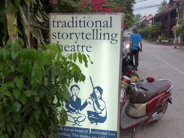 Plakat für das Story-Telling-Theater.