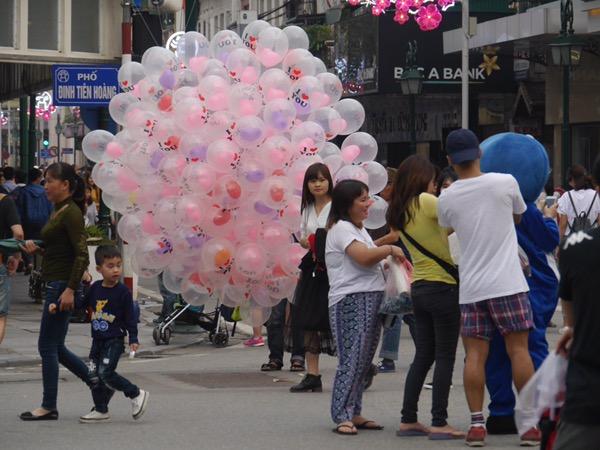 Luftballonverkäufer.