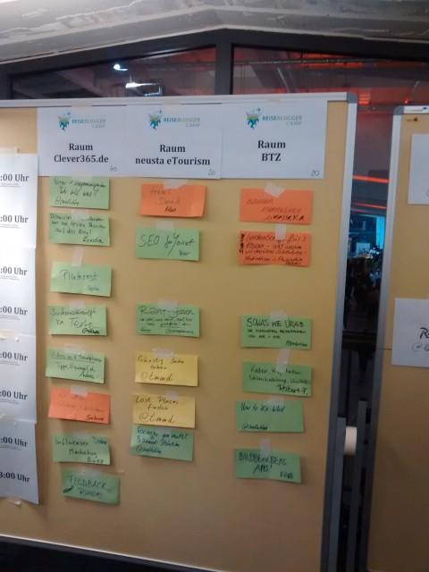 Bremen Reiseblogger Barcamp Board