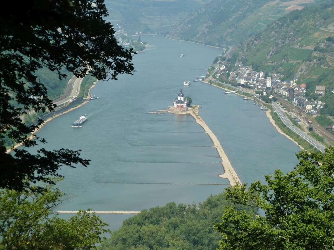 Rheinsteig Aussicht Pfalzgrafenstein