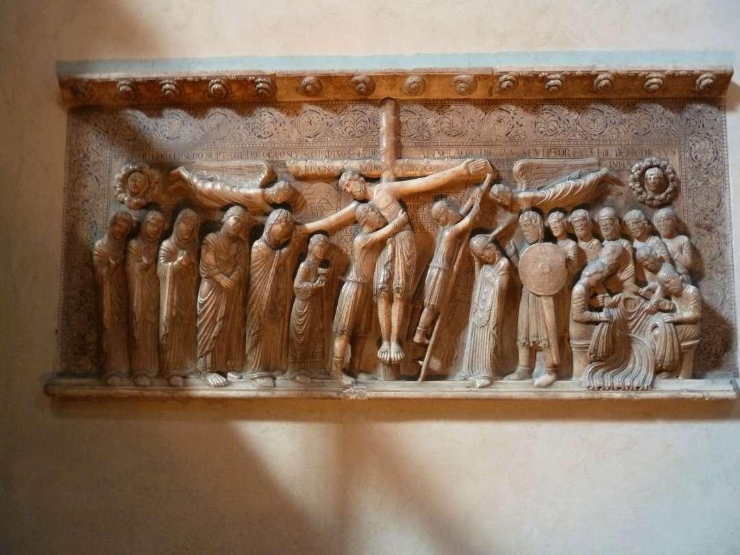 Skulptur der Kreuzabnahme