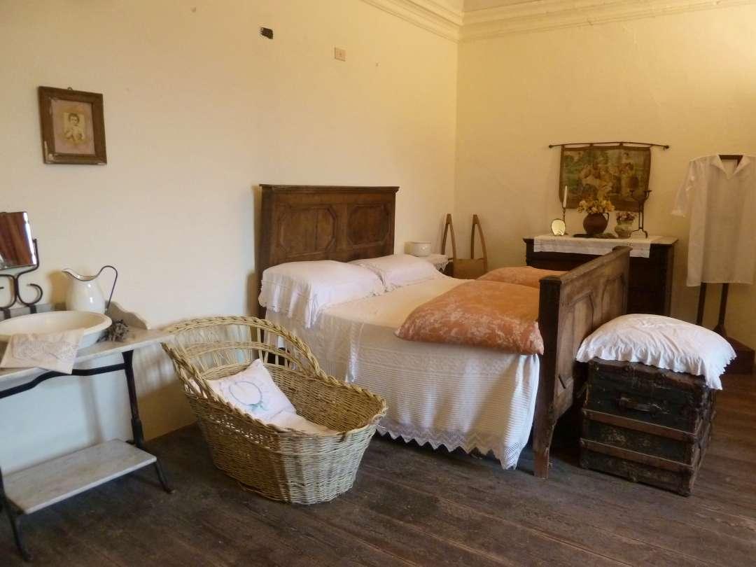 Schlafzimmer im Museum