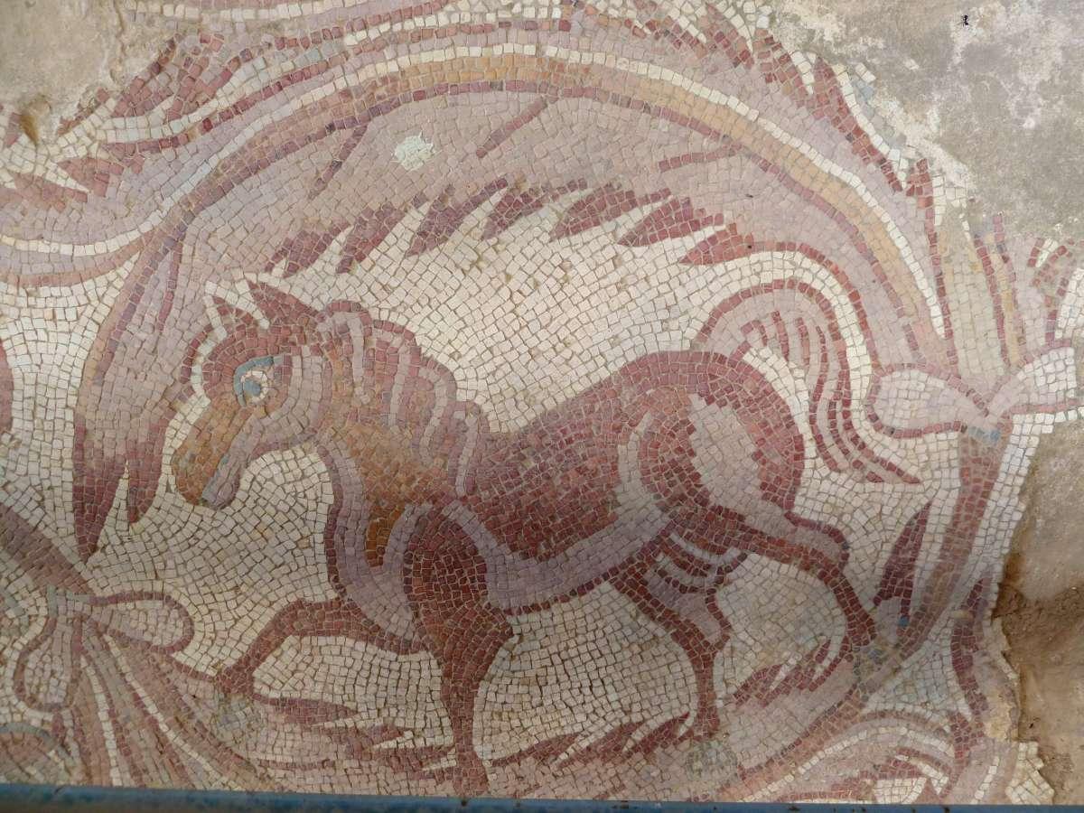 Mosaikbild eines Pferdes