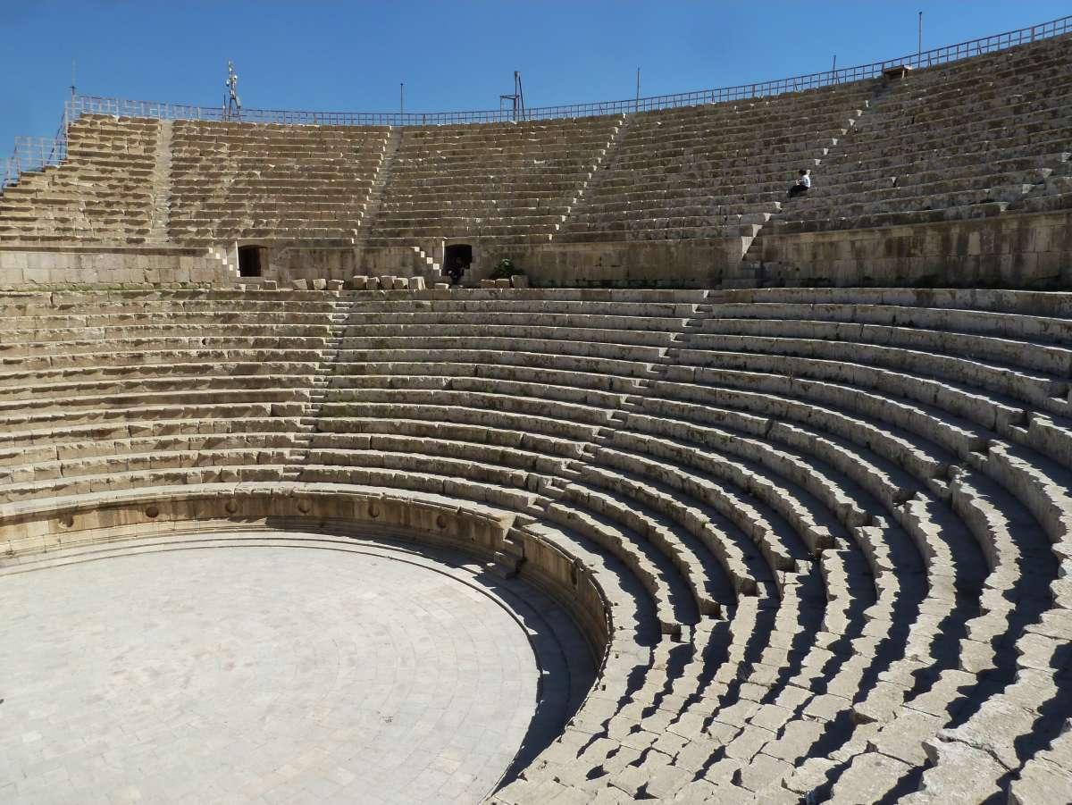 Sitzreihen des Amphitheaters
