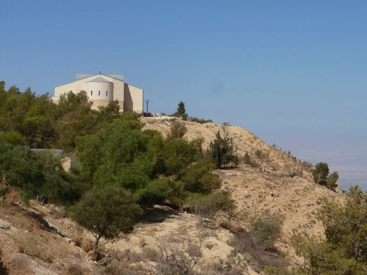 Mount Nebo mit dem Kloster