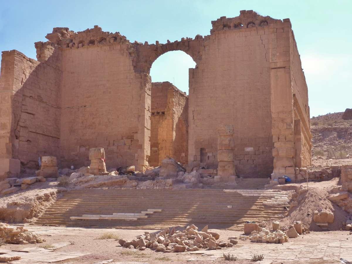 Qasr Al Bint, der Haupttempel der Nabatäer