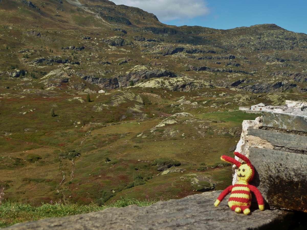 Reise-Ringel auf dem Simplon Pass in der Schweiz