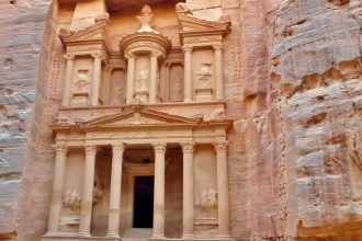 Das Schatzhaus des Pharao in Petra, Jordanien