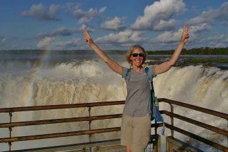 Gina an den Iguazu Fällen