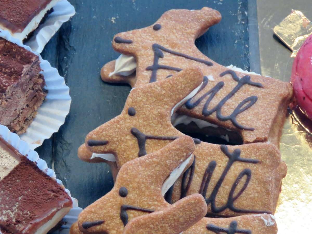 Fuerteventura-Ziegen als Gebäck im Café in Lajares