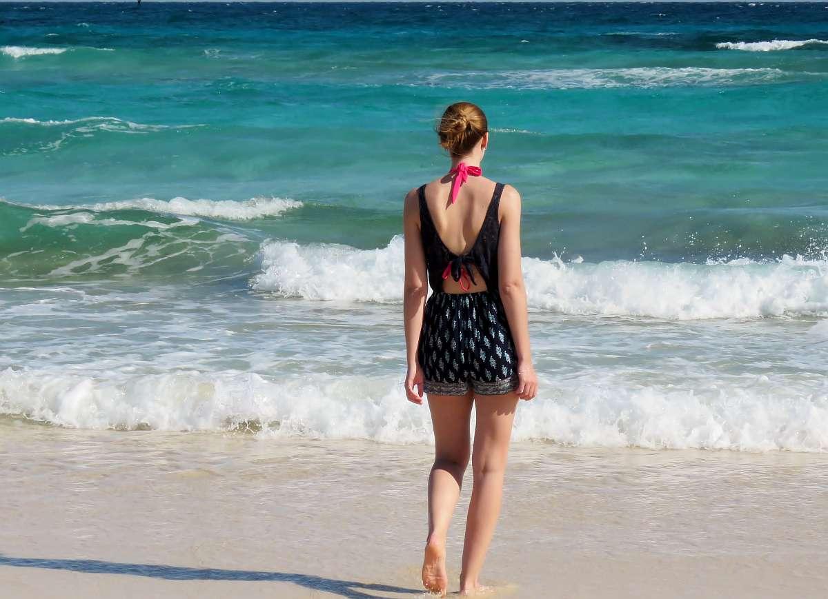 Jorina am Strand
