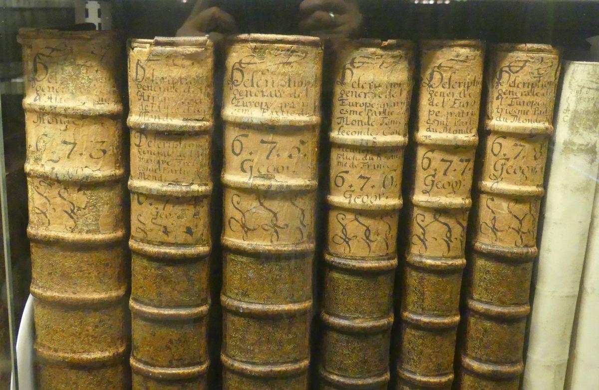Alte Bücher mit Lederrücken
