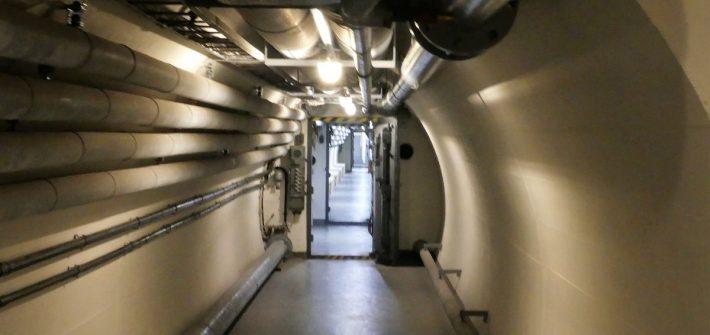 langer Gang im Bundesbankbunker