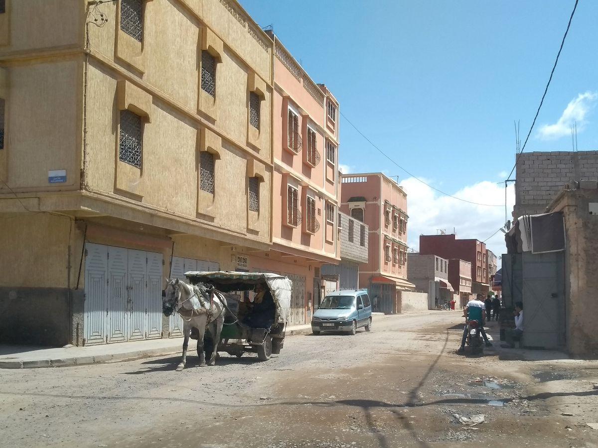 Pferdekutsche auf der Dorfstraße