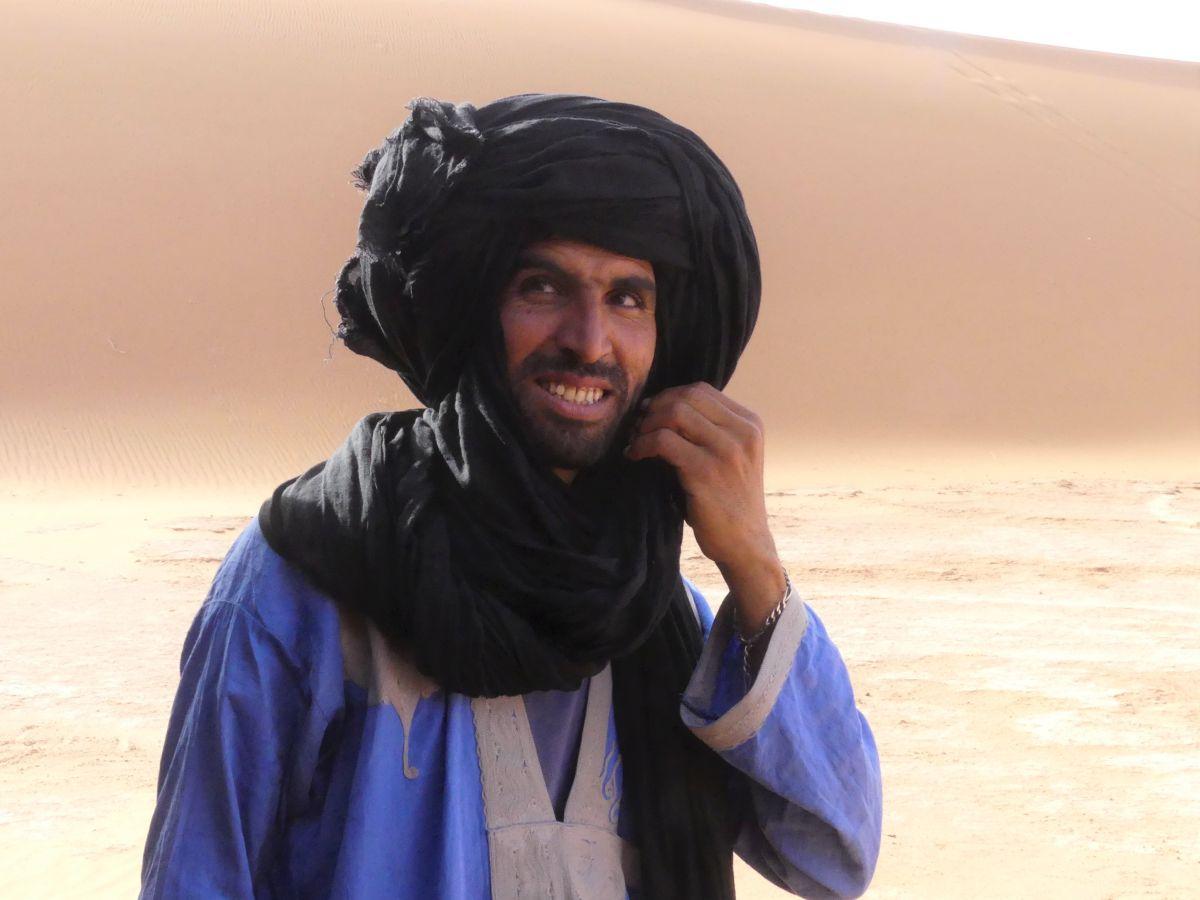 Berber mit schwarzem Turban