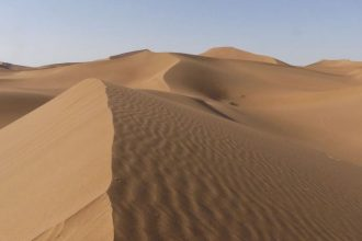 Sanddünen in der Sahara in Marokko