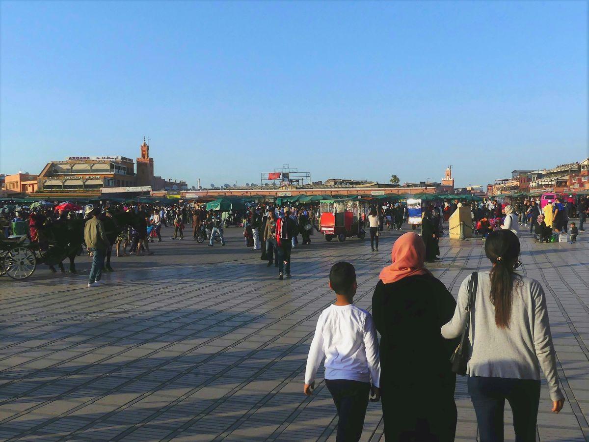 Der Dschema al Fnaa tagsüber