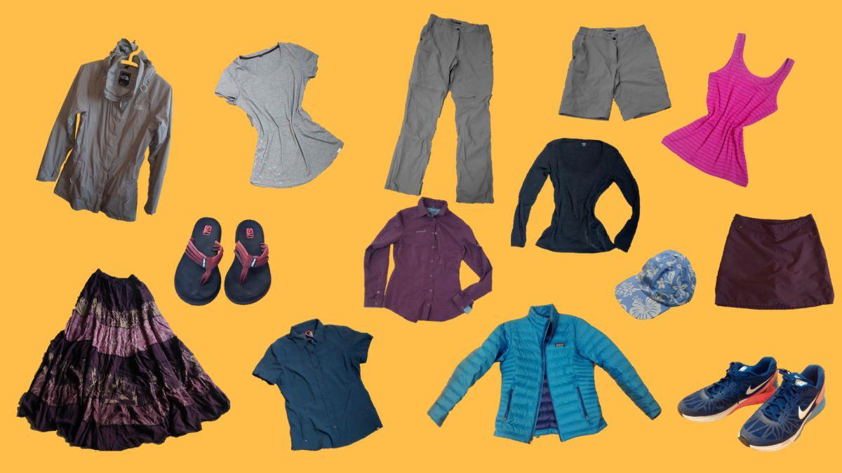 Packliste Reisekleidung Capsule Wardrobe für unterwegs