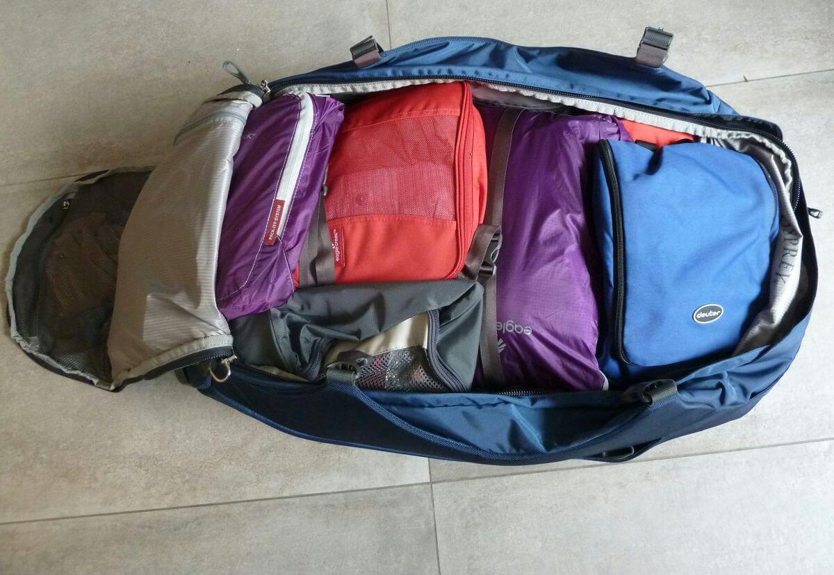 gepackter Rucksack