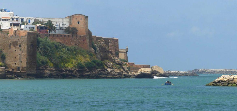 Blick auf die Kasbah von Rabat