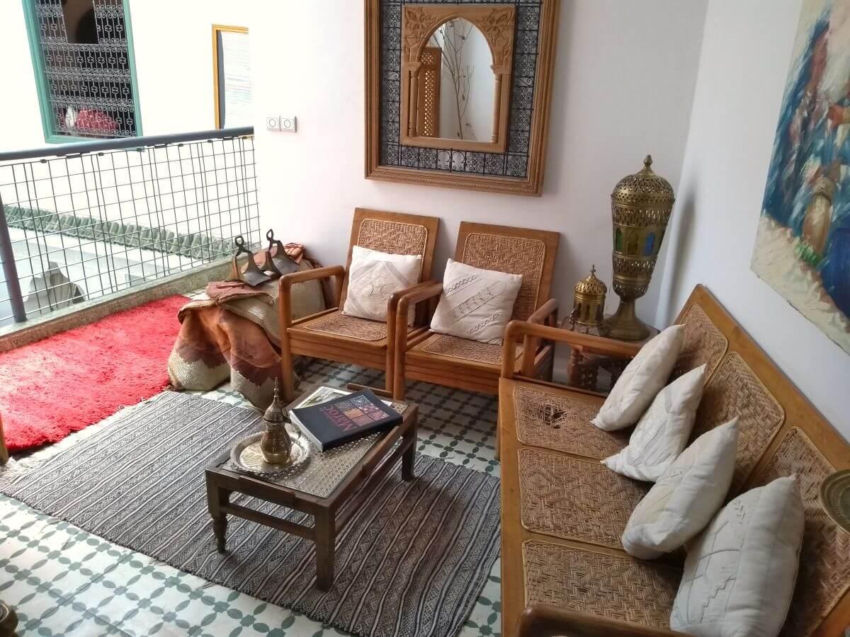 Sitzecke im Riad in Meknes