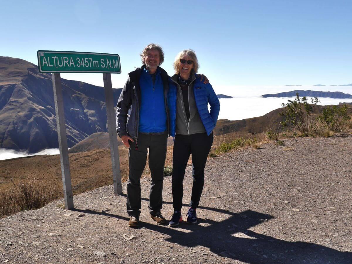 Gina und Marcus in den Anden
