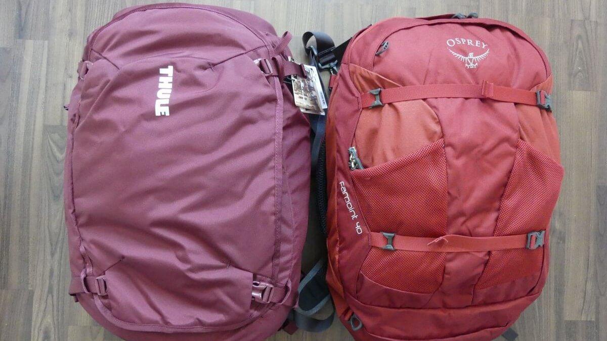 Handgepäck-Rucksack-Vergleich: Zwei Modelle im Test