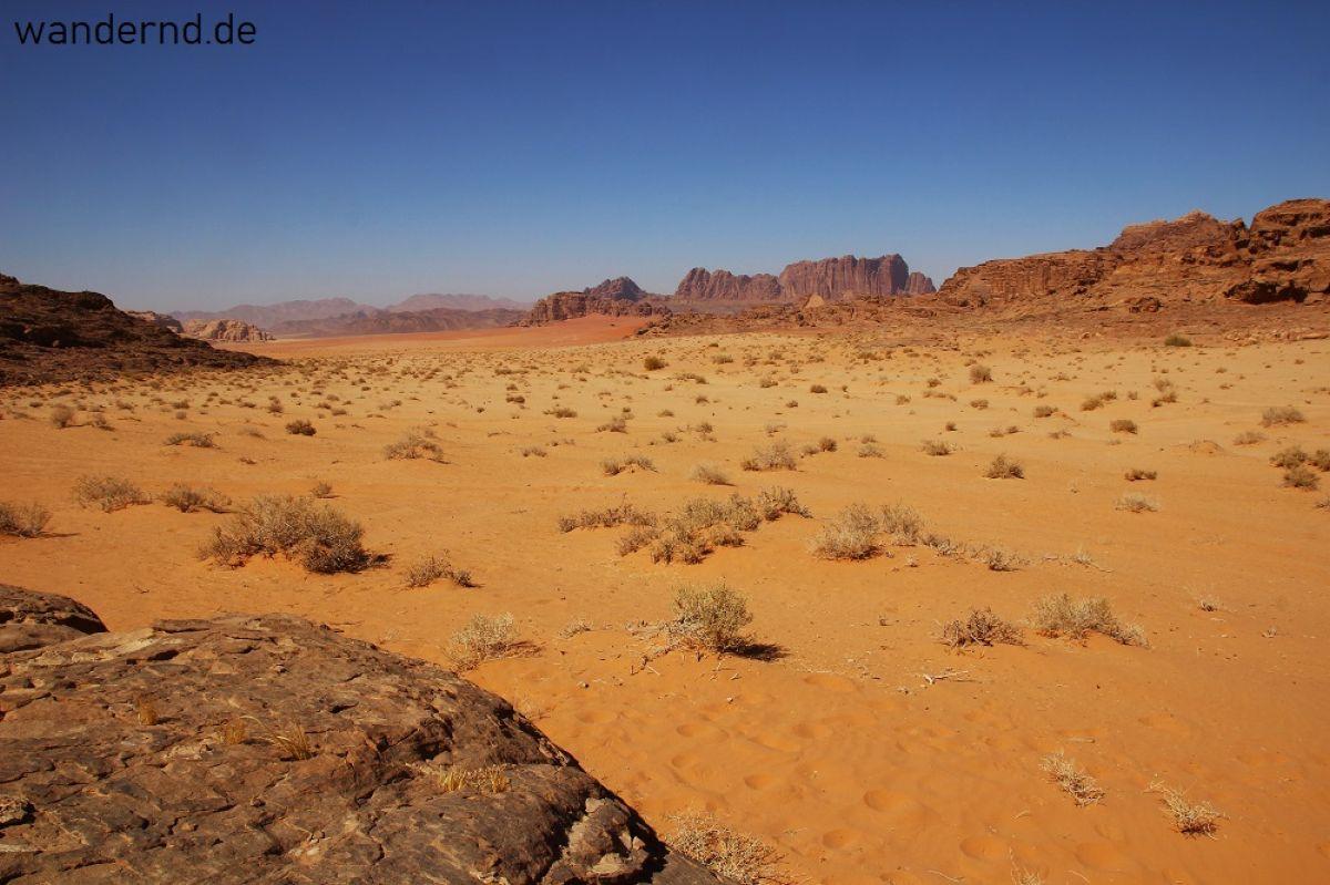 Rötliche Wüstenlandschaft.