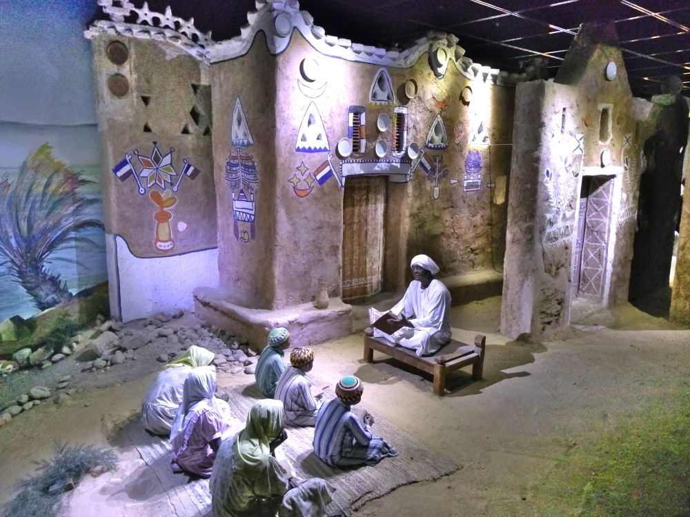 Nubische Schulen, mit Puppen dargestellt.