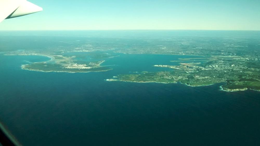 Luftaufnahme der australischen Küste.