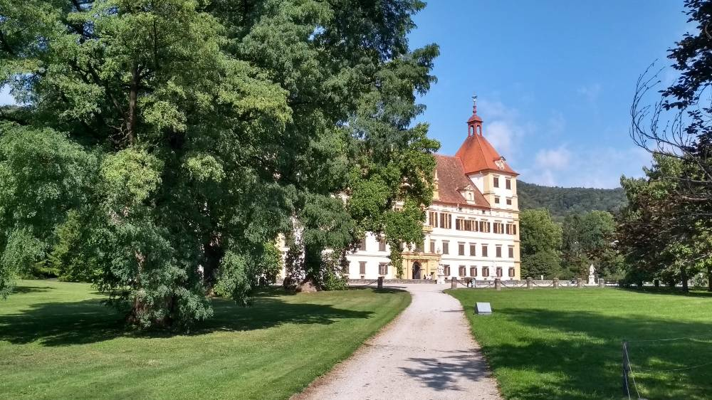 Schlosspark Schloss Eggenburg in Graz.