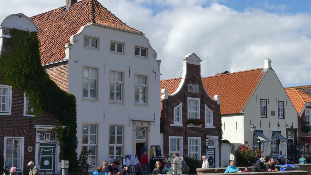 Typische ostfriesische Häuser.