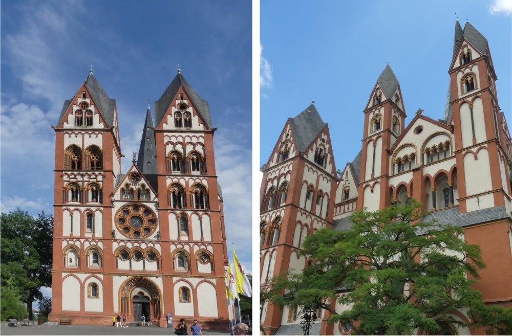 Zwei Ansichten des Limburger Doms.