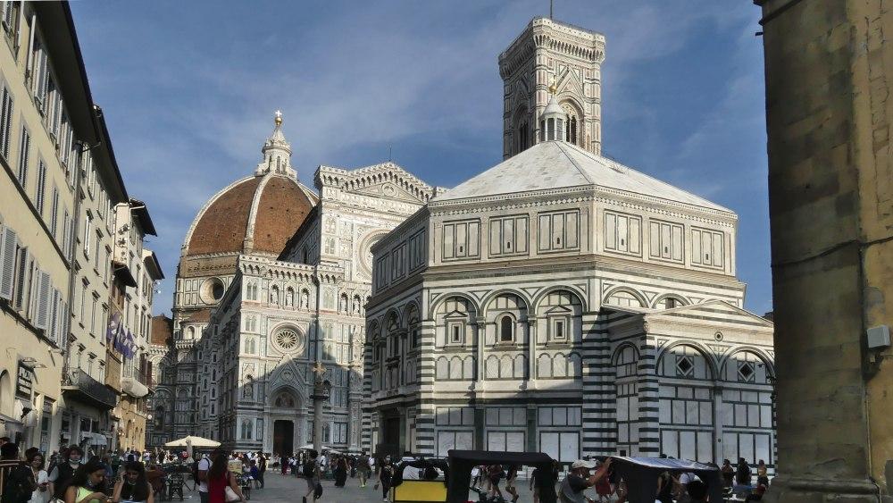 Baptisterium und Dom in Florenz.