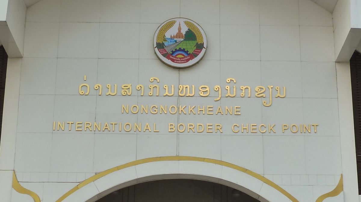 Grenzübergang in Kambodscha.