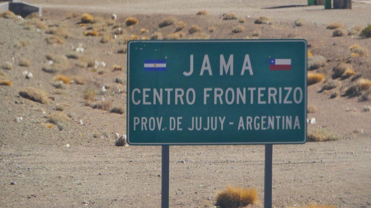 Grenzschilde Chile - Argentinien