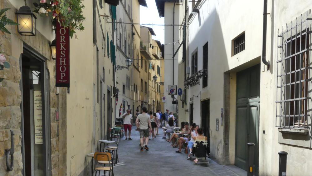Schmale Gasse in Florenz.