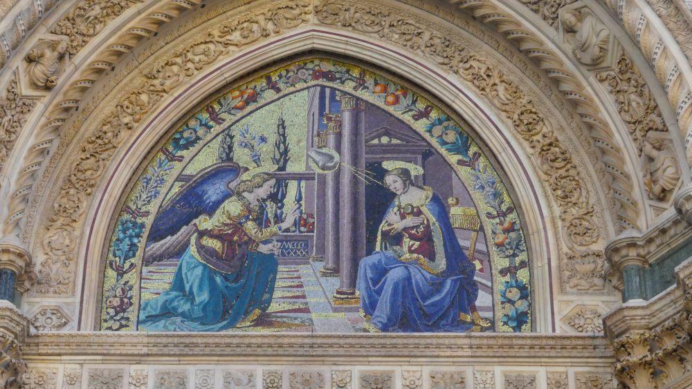 Bild von Maria und dem Engel.