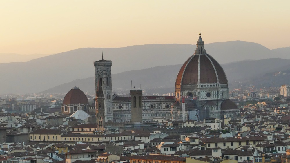 Ausblick auf den Dom von Florenz von oben.