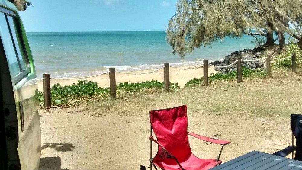 Campervan am Strand.