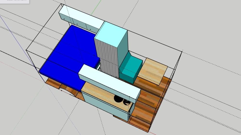 Dreidimensionaler Grundrissplan des Campervans.